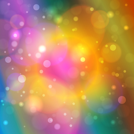 brilliancy: Vibrant Bright Abstract Bokeh Background , Defocused Lights, Vector Illustration Illustration