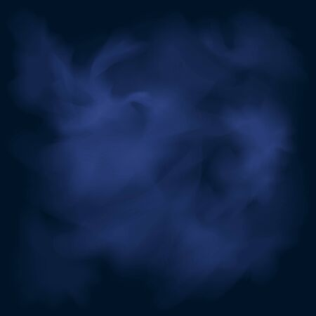 Abstract Background, Nebulae and Galaxies in Space, Smoke on the Blue Background, Vector Illustration Ilustração