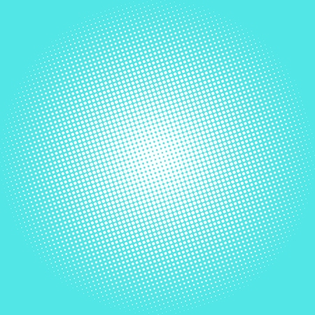 azure: Pop Art Dots on Azure Background