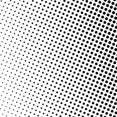 gradient: Pop Art Background, Black Dots on a White Background, Gradient Halftone Background, Retro Style, Vector Illustration