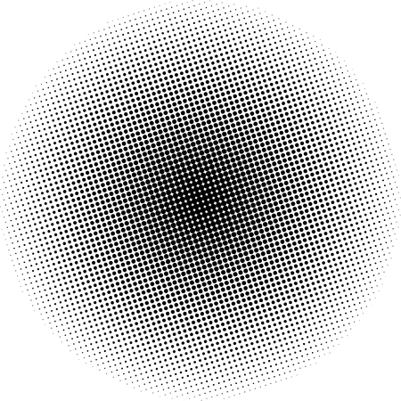 gradation art: Pop Art Background, Black Dots in the Form of a Circle on a White Background, Halftone Background, Retro Style, Vector Illustration