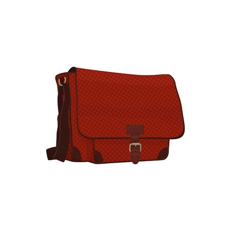 Travel Bag for Small Things Isolated on White, a Luggage Bag for Traveling, Vector Illustration