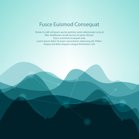 energy background: Turquoise Abstract Design Creative Background from Waves and Text, Business Concept, Vector Illustration Illustration