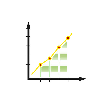diagrammatic: Chart , Graphic Success, Graph Growth Isolated on White Background, Vector Illustration