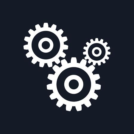 participation: Gears Isolated on Black Background, Teamwork, Joint Effort, Team Effort, Vector Illustration