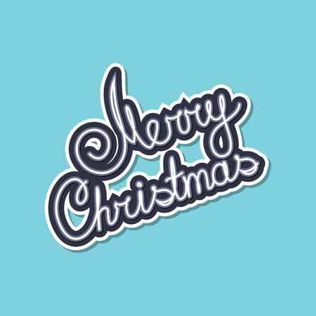 Gray Text Merry Christmas on Green Background, Poster Brochure Design, Merry Christmas and Happy New Year, Vector Illustration
