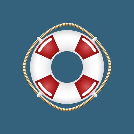 Lifebuoy ,Travel Concept ,Ship Equipment, Vector Illustration Illustration