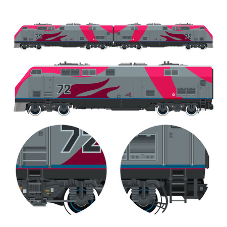 transit: Locomotive , Rail Transport Vehicle, Train, Rail Transportation , Vector Illustration