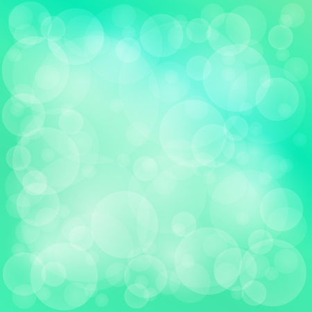 Green Soft Bright Abstract Bokeh Background ,Soft Glow of the Sun , Defocused Lights, Vector Illustration