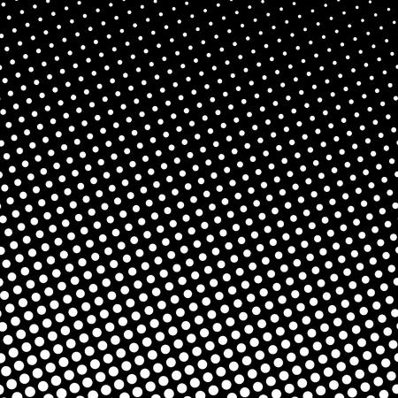 Fond de Pop Art, points blancs sur fond noir, dégradé de gauche à droite en haut à droite.