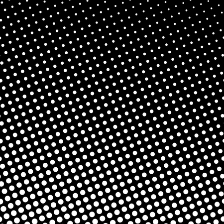 Pop Art Background, White Dots on Black Background, Gradient from Bottom Left to Upper Right.