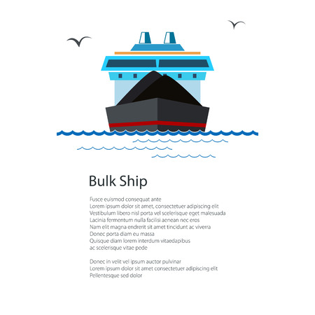 Poster Dry Cargo Ship Illustration
