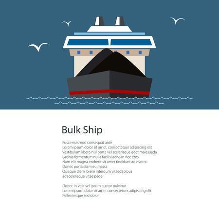 Poster with Dry Cargo Ship.