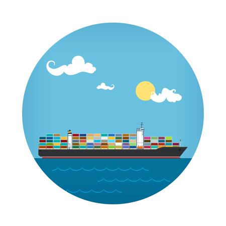 Icon of Cargo Container Ship