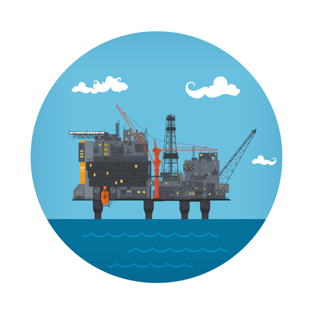 Icon of Sea Oil Platform