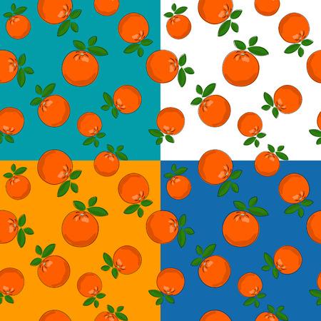 Set of four citrus pattern.