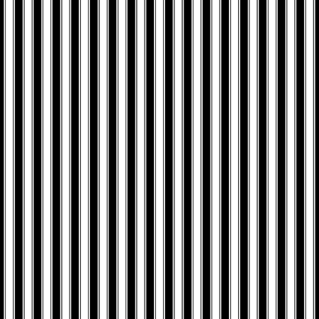 Seamless Pattern with Vertical Strips, Black and White Pattern for Fabric and Wrapping Paper, Vector Illustration Illustration