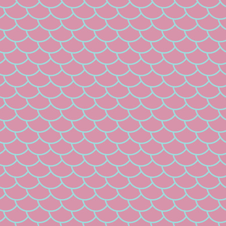 Fish scales seamless pattern, pink marine background, fairy mermaid tail or scales of the dragon , vector illustration Ilustrace