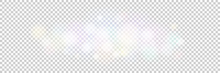 Soft Bright Abstract Bokeh Banner , Blured Colored Lights on a Transparent Background, Defocused Lights Isolated, Vector Illustration Illustration