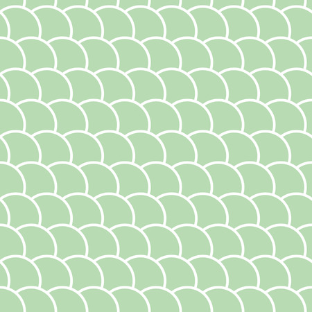 Green seamless pattern in the shape of a wave, marine colored background, vector illustration