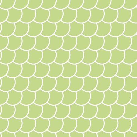 Mint green fish scales seamless pattern , fairy mermaid tail or scales of the dragon , vector illustration Ilustração