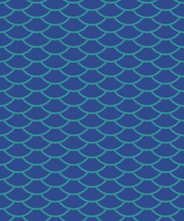 Seamless pattern in oriental motifs in shades of blue, abstract background Ilustração