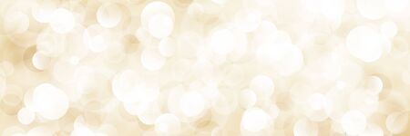 Beige Soft Bright Abstract Bokeh Banner, Soft Glow of the Sun , Defocused Lights, Vector Illustration Ilustração