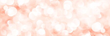 Soft Bright Abstract Bokeh Banner in Shades of Red,Soft Glow of the Sun , Defocused Lights, Vector Illustration