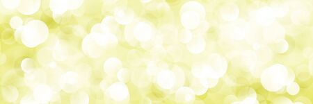 Yellow Soft Bright Abstract Bokeh Banner ,Soft Glow of the Sun , Defocused Lights, Vector Illustration