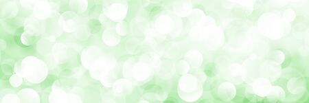 Green Soft Bright Abstract Bokeh Banner ,Soft Glow of the Sun , Defocused Lights, Vector Illustration