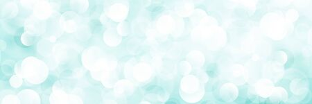Cyan Soft Bright Abstract Bokeh Banner ,Soft Glow of the Sun , Defocused Lights, Vector Illustration