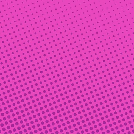 Pink Neon Background with Dots , Retro Style , Pop Art Background, Vector Illustration Ilustração