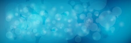 Modern abstract dark blue banner with sparkles, vector illustration