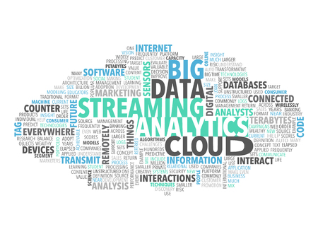 Big Data Steaming Analytics Tag Cloud