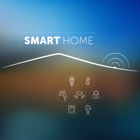 home security: Smart Home Concept