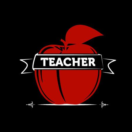 Apple as a symbol of a teacher / teaching
