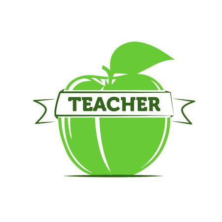 teacher teaching: Apple as a symbol of a teacher  teaching