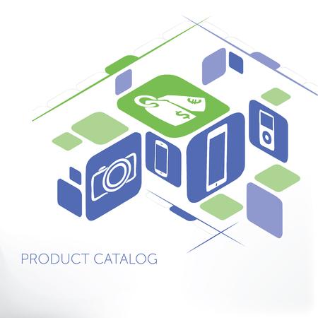 Product Catalog Management 矢量图像