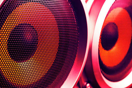 powerful close-up speakers in club modern color