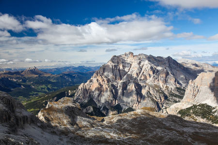 Morning view of Dolomites, Trentino-Alto-Adige region, Italy.