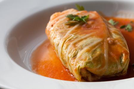 Polish Food, cabbage rolls roulades  photo