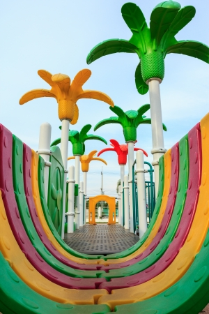 Image of colorful playground equipment photo