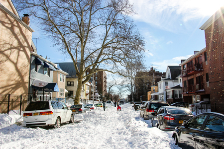 strom: After Snow Strom in NYC. Editorial