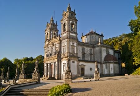 The Santuario Bom Jesus do Monte (Shrine of Good Jesus of the Mountain) is a hilltop Catholic pilgrimage site just a few miles from Braga. Stock Photo - 18653087