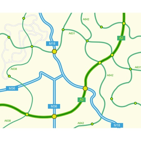 vector illustration of abstract road map Stock Vector - 10850381