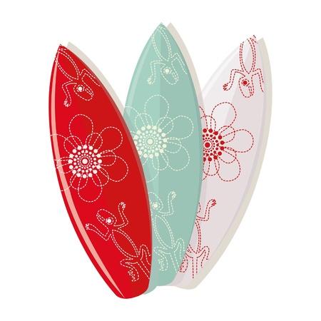 surf board: dise�os para tablas de surf conjunto Vectores