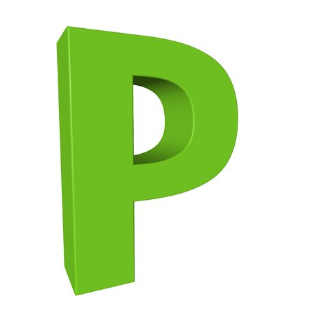 Green alphabet - P