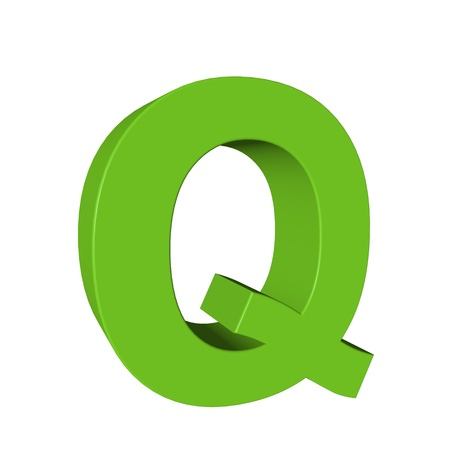 Green alphabet - Q photo