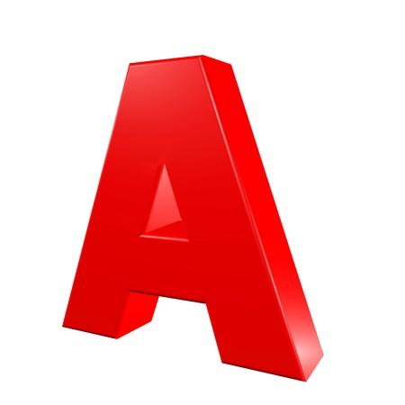 Red alphabet - A Stock Photo