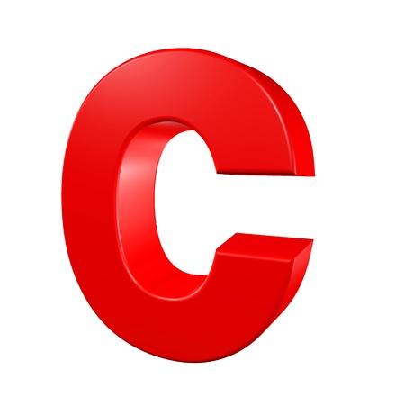 Red alphabet - C